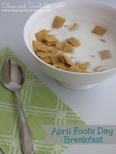Freeze their cereal in milk the night before breakfast on April Fools. Watch them try and dig in. LOL.