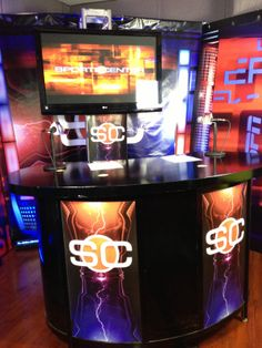Audio Sports Center Booth Columbus Circle, Espn, Event Design, Special Events, Audio, Nyc, Creative, Sports, Hs Sports