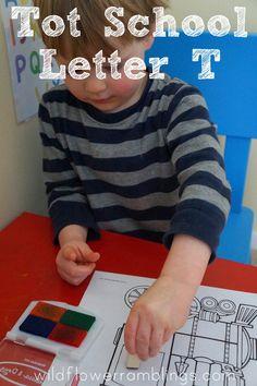 Tot School: Letter T - Wildflower Ramblings