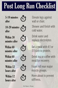 Post Long Run Checklist