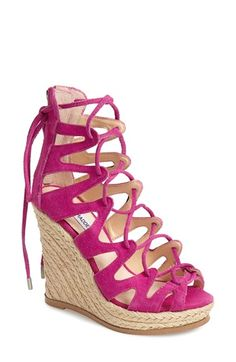 3519255fcc Free shipping and returns on Steve Madden 'Theea' Caged Suede Wedge Sandal ( Women