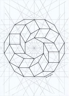 The Moebius Loop, geometric construction, start of to rendering. Mind that your vision will play tricks on you, bouncing from 2 to 3 dimensions, so you may need to look away periodically. Possible Inlay project? Geometric Shapes Art, Geometric Drawing, Mandala Drawing, Geometric Designs, Drawing Drawing, Geometric Construction, Sacred Geometry Tattoo, Math Art, Shape Art