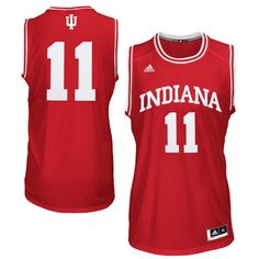 adidas Indiana Hoosiers  11 Point Guard Twill Basketball Jersey - Crimson f654cdf1b5aff