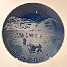 B & G Plate Christmas in Greenland 1972 Dog Sled