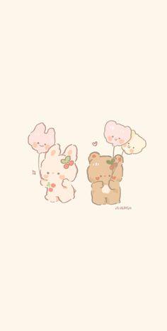 Bunny And Bear, Bear Wallpaper, Winnie The Pooh, Disney Characters, Fictional Characters, Comics, Art, Art Background, Winnie The Pooh Ears