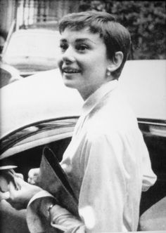 """Audrey Hepburn at the Grand Hotel & La Pace Spa in Montecatini Terme, Italy, 1954. """" Audrey chose to spend a relaxing holiday and Spa in Montecatini on the advice of Anita Loos, novelist and screenwriter considered in those days the best ambassador..."""