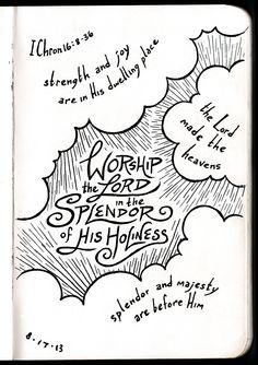 The Splendor or His Holiness • 1 Chronicles 16 • Devotions Sketchbook • Aaron Zenz