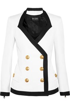 BalmainDouble-breasted piqué jacket