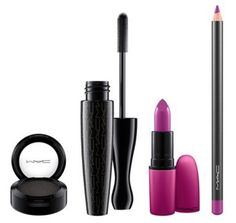 Purple lip and eye, all in one look set by MAC