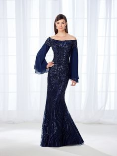 93a62545c24a Cameron Blake 118688 Angel-Sleeve Mother of Bride Gown. Bridal Superstore  Indy