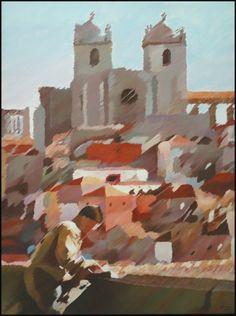 O Porto//.Acrilic on canvas 100x81cm /made by João Feijó 2007.