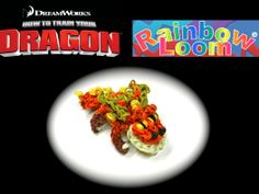 Rainbow Loom How to Train Your Dragon (Gronckle) Loom Band Patterns, Rainbow Loom Patterns, Rainbow Loom Creations, Loom Love, Fun Loom, Rainbow Loom Charms, Rainbow Loom Bracelets, Rubber Band Charms, Rubber Bands