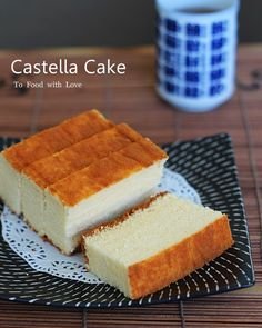 JAPANESE CASTELLA  Adapted from Ultimate Cake by Barbara Maher  == Ingredients ==  6 egg yolks, 100g (3 1/2 oz)caster sugar, 2 t honey, Pinch of salt, 75ml (5 T) condensed milk, 90g (3oz) plain flour sifted, 4 egg whites   =======