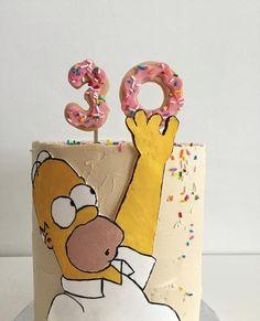 Homer Simpson 30th birthday cake