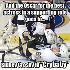 The biggest crybaby in the NHL...Dafuq