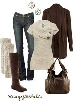 Cozy up! Sweaters, Jeans & Chocolate Accessories