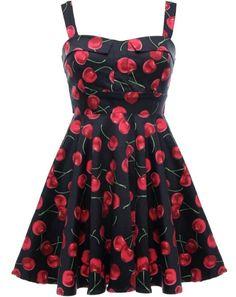 Cherry Jubilee Dress by Rickety Rack : http://www.ricketyrack.com/Cherry-Jubilee-Dress-10961-BLACK.htm