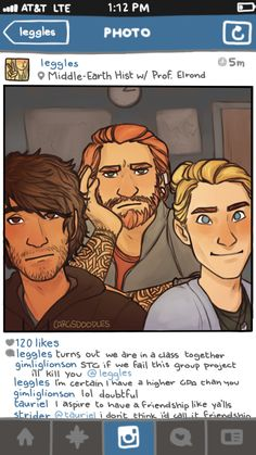 The Hobbit social media AU by carg's doodles