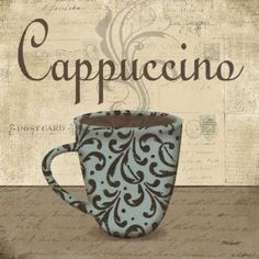 Posterazzi Cappuccino Canvas Art - Todd Williams x Coffee Latte Art, I Love Coffee, Coffee Cafe, Coffee Break, Poster Café, Collages D'images, Framed Art Prints, Fine Art Prints, Cappuccino Art