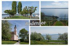 Eigengemaakte Ansichtkaart Bodensee, Lake Konstanz.