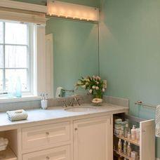 beach style bathroom by Elizabeth Swartz Interiors #marthasvineyard #bath #dreamhouse #architecture #sink #tile #cabinet #drawer www.roselovesrealestate.com