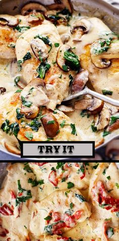 Nutrition recipes - Creamy Tuscan Garlic Chicken It Tastes Like It's Straight From a Restaurant Turkey Recipes, Meat Recipes, Chicken Recipes, Dinner Recipes, Cooking Recipes, Healthy Recipes, Tuscan Garlic Chicken, Food Dishes, Italian Recipes
