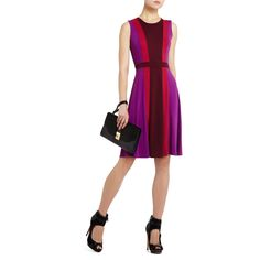 BCBGMAXAZRIA - SHOP BY CATEGORY: DRESSES: VIEW ALL: SOLIE COLOR-BLOCKED A-LINE DRESS