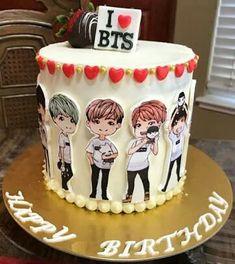 #wattpad #random Everything About BTS jokes  pics etc Started:26 October 2017 Finished:14 January 2019 12th Birthday Cake, Birthday Cake Girls, Cupcakes, Cupcake Cookies, Yummy Treats, Sweet Treats, Bts Cake, Elegant Birthday Cakes, Sweet 16 Cakes
