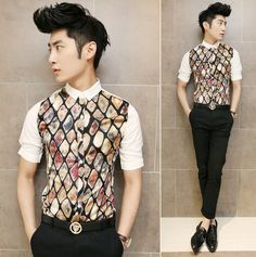 Hot Selling 2014 Creative Design Cool Man Casual Shirt Slim Fit Asian Fashion Summer Clothing  $24.88 Casual Shirts For Men, Men Casual, Mens Fashion, Classy Fashion, Asian Fashion, Summer Outfits, Shirt Patterns, Menswear, Slim
