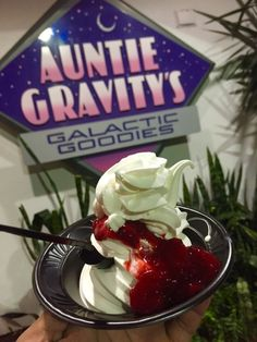 Strawberry Sundae from Auntie Gravity's Galactic Goodies. They also have great smoothies Best Disney World Food, Disney World Vacation, Disney Food, Disney Vacations, Walt Disney World, Disney Parks, Disney Time, Disney Recipes, Fun Recipes