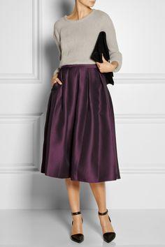 the row top, tibi jacquard skirt, alexander wang shoes, proenza schouler clutch; net-a-porter.