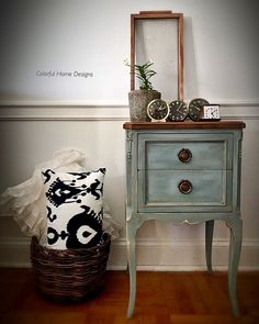 "9 Likes, 5 Comments - Krissy Pastore (@colorfulhomedesigns) on Instagram: ""Finished this sweet vintage table in Dixie Belle Paint in a base coat of Drop Cloth, then 2 coats…"""