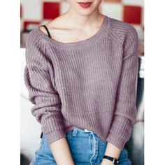SHARE & Get it FREE | Boat Neck Loose-Fitting Ribbed SweaterFor Fashion Lovers only:80,000+ Items·FREE SHIPPING Join Dresslily: Get YOUR $50 NOW!