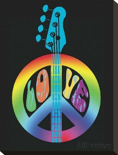 ☮ American Hippie Psychedelic Art ~ Peace Sign . . Peace, love & music