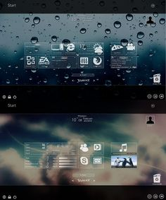 Windows 8 Metro Widget Glass Version can easily be achieved on Windows 7 using a set of desktop Widget without actually changing the theme, RAM and CPU consumption is less.