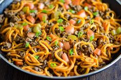 Need a quick and easy weekday recipe? Try these sweet potato noodles simmered in a beefy sauce for the ultimate one-pan meal.
