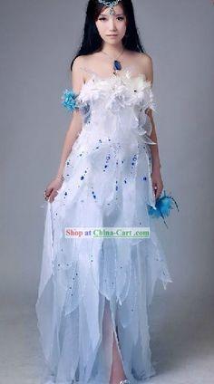 2f0b3f9b87ae Moon Fairy, Goddess Costume, Fantasy Dress, Fantasy Outfits, Fairytale  Fashion,