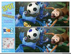 Rio 2 Activity Sheets Spot the Difference