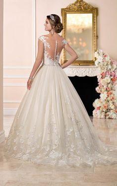 6268 vestido de novia de encaje y tul vestido de bola de Stella York