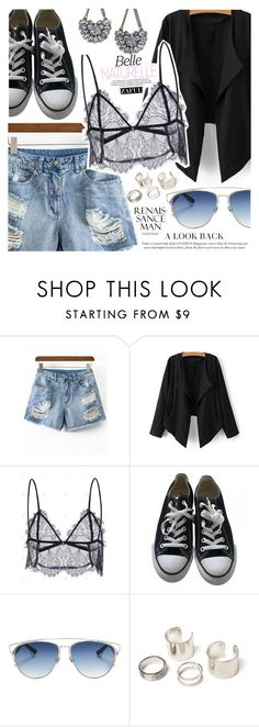 """""""Exit Style"""" by vanjazivadinovic ❤ liked on Polyvore featuring Converse, Christian Dior, LULUS, polyvoreeditorial and zaful"""