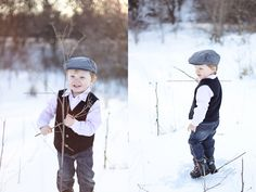 Winter Toddler Boy Photo Session    Erin Stevenson Photography: Kewanee IL Child & Family Photographer   My Baby is 3