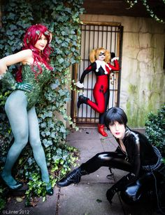 Poison Ivy, Harley Quinn & Catwoman cosplay