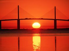 Always, the Sunshine Skyway at sunset.  St. Petersburg to Bradenton, FL  I really dislike bridges! But this one was pretty cool!