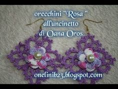 Orecchini romantici all'uncinetto - YouTube