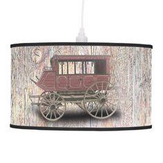 STAGE COACH CEILING LAMP - personalize cyo diy design unique