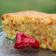 Mexican cornbread. Moist, slightly sweet cornbread flavor with a tiny kick to keep it interesting. This is truly a delicious cornbread. Just right with a hamburger or taco soup. Our family loved it! We had a bit of a cool down here with clouds and even a tiny... #breads #cornbread #mexicancornbread