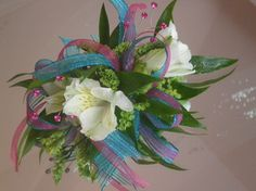 lots of ribbon for mine! #prom #flowers.  Flowers of Charlotte loves this!  Visit us at flowersofcharlotte.com