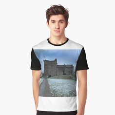 'Doune Castle, Scotland' Graphic T-Shirt by David Rankin Game Of Thrones Castles, Game Of Thrones Gifts, Vivid Colors, Female Models, Scotland, Tank Man, Shirt Designs, Printed, Awesome