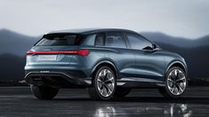 Audi e-tron concept compact electric SUV with all-wheel drive presented at Geneva Motor Show. The Audi e-tron concept is a compact four-door SUV with a… Audi Q4, In China, Shanghai, Van Vw, Porsche, Jaguar, Automobile, Hatchback Cars, Volkswagen Group