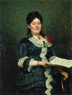 Portrait of the Singer Alexandra Molas, 1883  Ilya Repin